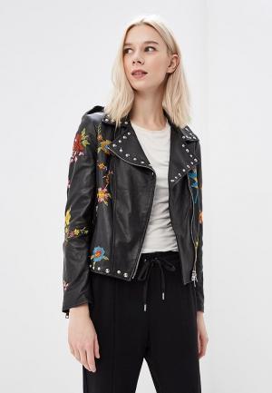 Куртка кожаная Imperial IM004EWAOPI6. Цвет: черный