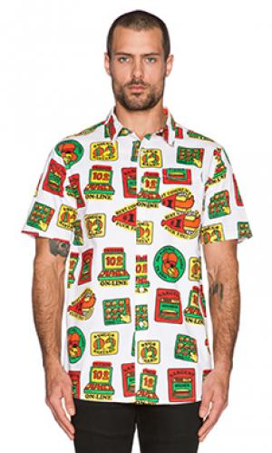 Рубашка на пуговицах merit badge Lazy Oaf. Цвет: белый