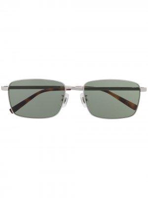 Солнцезащитные очки в оправе черепаховой расцветки Dunhill. Цвет: зеленый