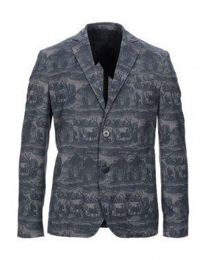 Пиджак HōSIO. Цвет: стальной серый