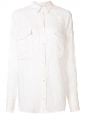 Рубашка Cedar с заостренным воротником Karen Walker. Цвет: белый