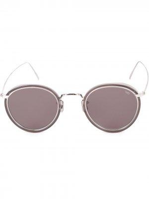 Солнцезащитные очки в круглой оправе Eyevan7285. Цвет: серый