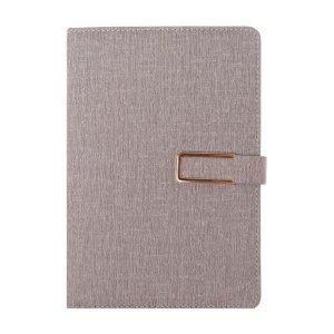 Органайзер, формат а5, с хлястиком, 100 листов, линия, обложка пвх серый Calligrata