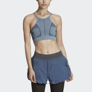 Спортивный бра Primeknit by Stella McCartney adidas. Цвет: темно-синий