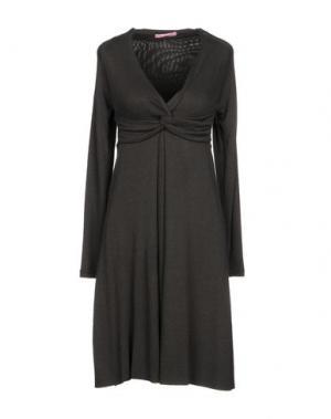 Короткое платье FRANCESCA FERRANTE. Цвет: свинцово-серый
