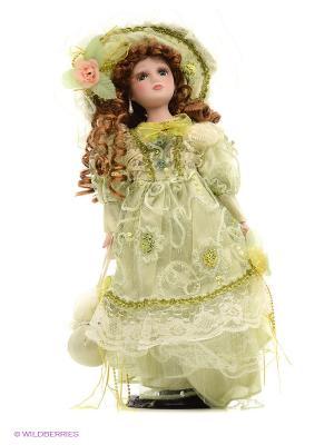 Кукла фарфор Мирелла 16 дюймов Angel Collection. Цвет: салатовый