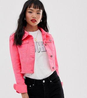 Короткая джинсовая куртка -Розовый Brave Soul Petite