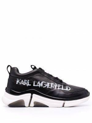 Кроссовки Venture Art Deco Karl Lagerfeld. Цвет: черный