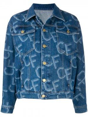 Джинсовая куртка CF Chiara Ferragni. Цвет: синий