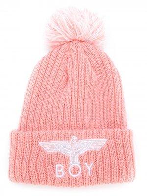Вязаная шапка Eagle Boy London Kids. Цвет: нейтральные цвета