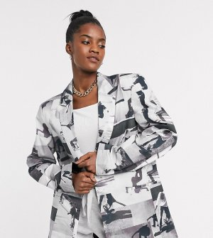 Oversized-пиджак с фотопринтом COLLUSION Unisex-Мульти