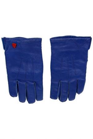 Перчатки Strellson. Цвет: синий