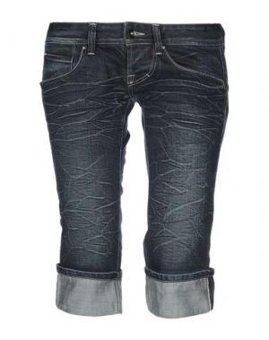 Джинсовые брюки-капри HIGH by CLAIRE CAMPBELL. Цвет: синий