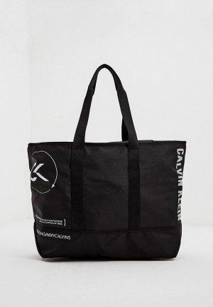 Сумка Calvin Klein Performance. Цвет: черный