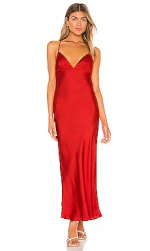 Платье-комбинация jassie Bardot. Цвет: красный