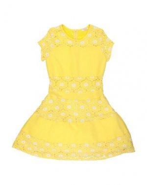 Платье FRACOMINA MINI. Цвет: желтый