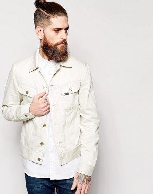 Светло-бежевая джинсовая куртка зауженного кроя Rider Lee