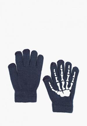 Перчатки Modis. Цвет: синий