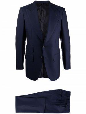 Костюм с однобортным пиджаком TOM FORD. Цвет: синий