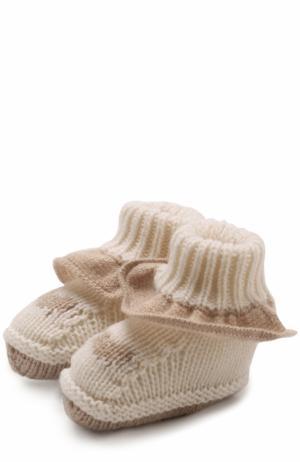 Кашемировые носки с оборкой Baby T. Цвет: белый