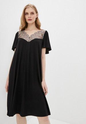 Платье домашнее Laete. Цвет: черный