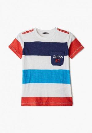 Футболка Guess. Цвет: разноцветный