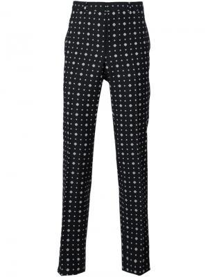 Классические брюки с мелким узором Givenchy. Цвет: чёрный