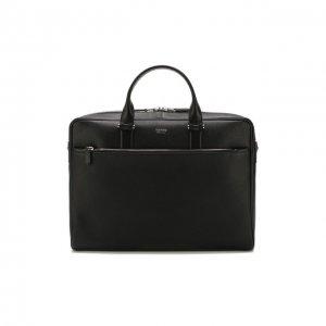Кожаная сумка для ноутбука Tom Ford. Цвет: чёрный