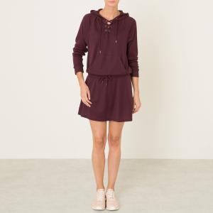 Платье-пуловер с капюшоном THE KOOPLES SPORT. Цвет: бордовый
