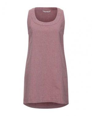 Короткое платье NOVEMB3R. Цвет: красно-коричневый
