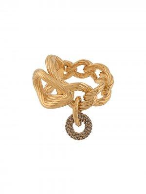 Кольцо в форме цепи Agnona. Цвет: золотистый