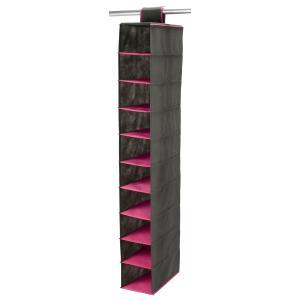 Органайзер подвесной для шкафов с 10 отделениями LA REDOUTE INTERIEURS. Цвет: антрацит