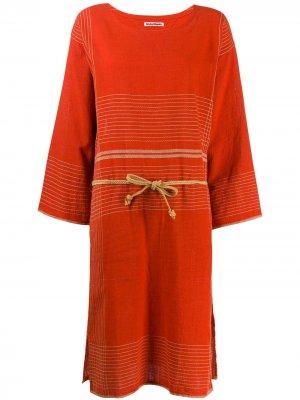 Платье-туника 1970-х годов с декоративной строчкой Issey Miyake Pre-Owned. Цвет: красный