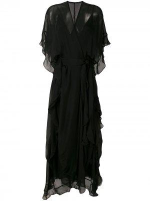 Платье с завязками Eva. Цвет: черный