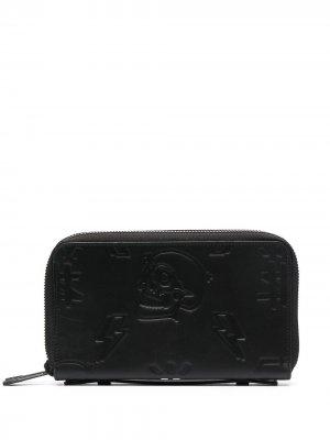 Карманный органайзер с логотипом Philipp Plein. Цвет: черный