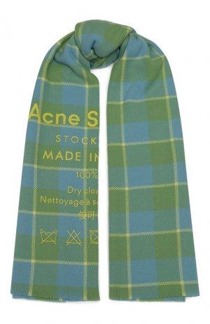 Шерстяной шарф Acne Studios. Цвет: зелёный