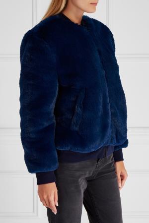 Меховая куртка-бомбер Amanda Golden Goose Deluxe Brand. Цвет: синий