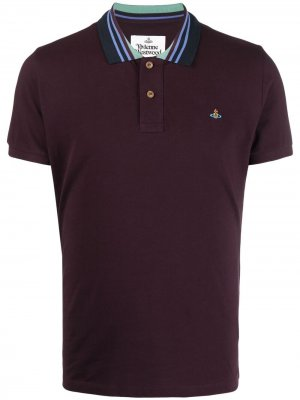 Рубашка поло с воротником в полоску Vivienne Westwood. Цвет: фиолетовый