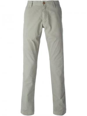 Классические плотные брюки кроя слим Polo Ralph Lauren. Цвет: зелёный