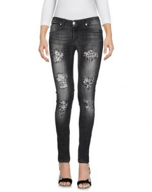 Джинсовые брюки H2O ITALIA. Цвет: черный