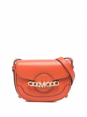 Сумка через плечо с цепочкой и логотипом Michael Kors. Цвет: оранжевый