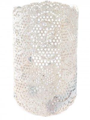 Широкий кафф Vintage Lace Aurelie Bidermann. Цвет: золотистый
