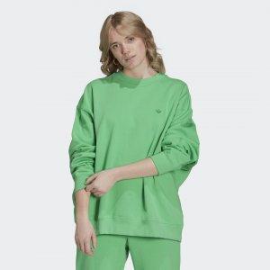 Свитшот Adicolor Oversize Originals adidas. Цвет: зеленый