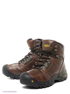 Ботинки Keen. Цвет: коричневый