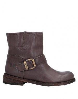 Полусапоги и высокие ботинки FELMINI. Цвет: темно-коричневый