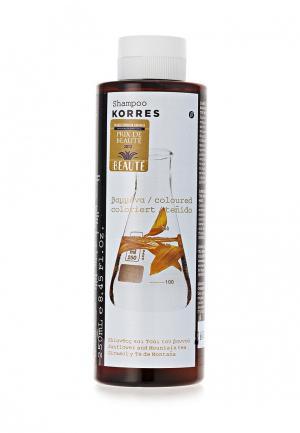 Шампунь Korres для окрашенных волос с подсолнухом и гаультерией 250 мл. Цвет: белый