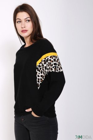 Пуловер Oui. Цвет: чёрный