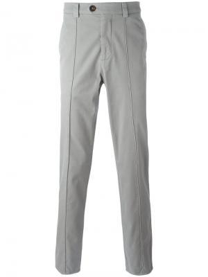 Классические брюки-чинос Brunello Cucinelli. Цвет: серый