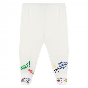 Хлопковые ползунки Dolce & Gabbana. Цвет: белый