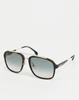Солнцезащитные очки-авиаторы в черепаховой оправе -Коричневый цвет Carrera